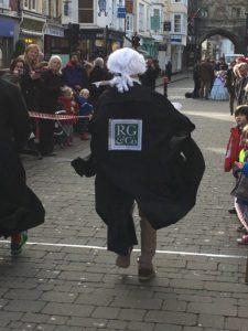 Semi-finalist in Salisbury's Pancake Race